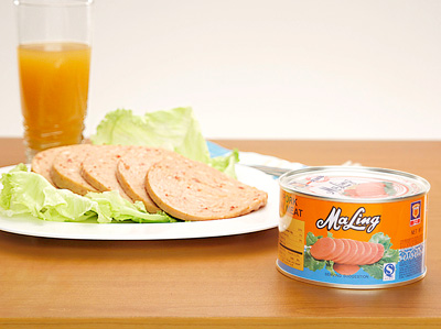 MALING B2 Pork Luncheon Meat (Round)