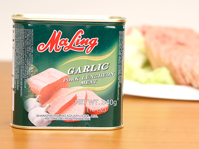 MALING B2 Pork Luncheon Meat - Garlic