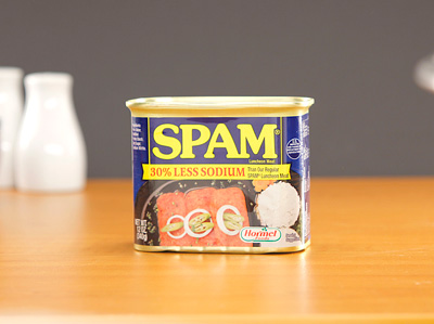 SPAM Luncheon Meat - (30% less Sodium) 340g