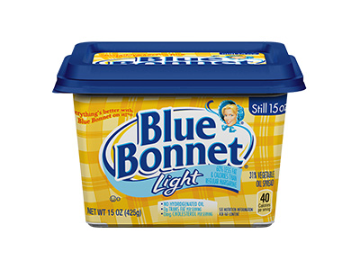 BLUE BONNET Light Margarine Bowl