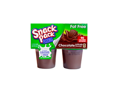 SNACK PACK Pudding Fat Free Chocolate